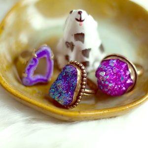 Gemstone Rings Set of 3